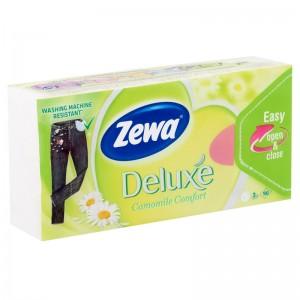Zewa Deluxe 3 rétegű papír zsebkendő Camomile  90 db