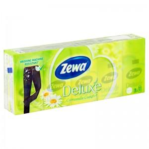 Zewa Deluxe 3 rétegű papír zsebkendő camomile 10x10 db