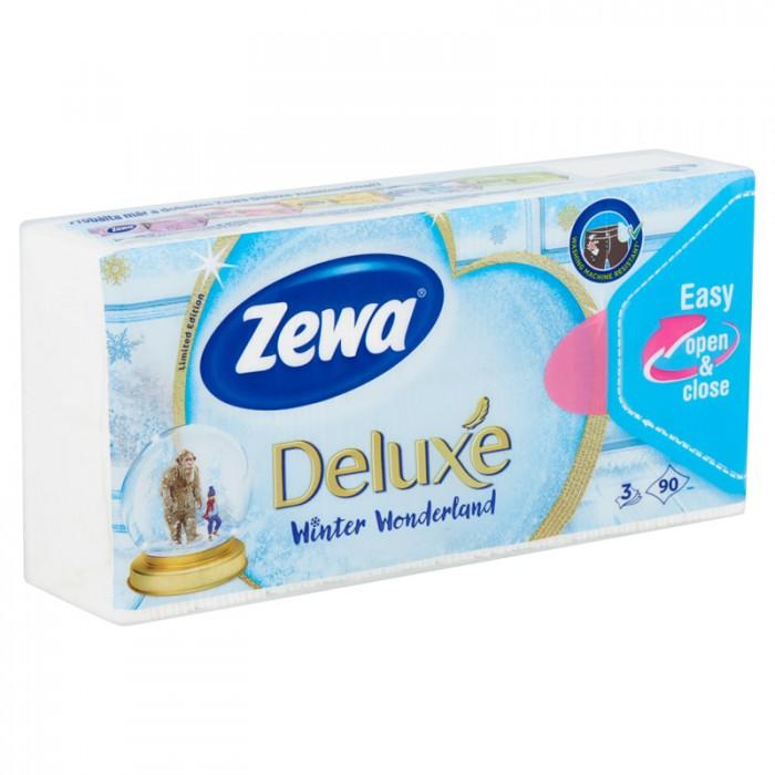 Zewa Deluxe 3 rétegű papír zsebkendő LE (winter) 90 db