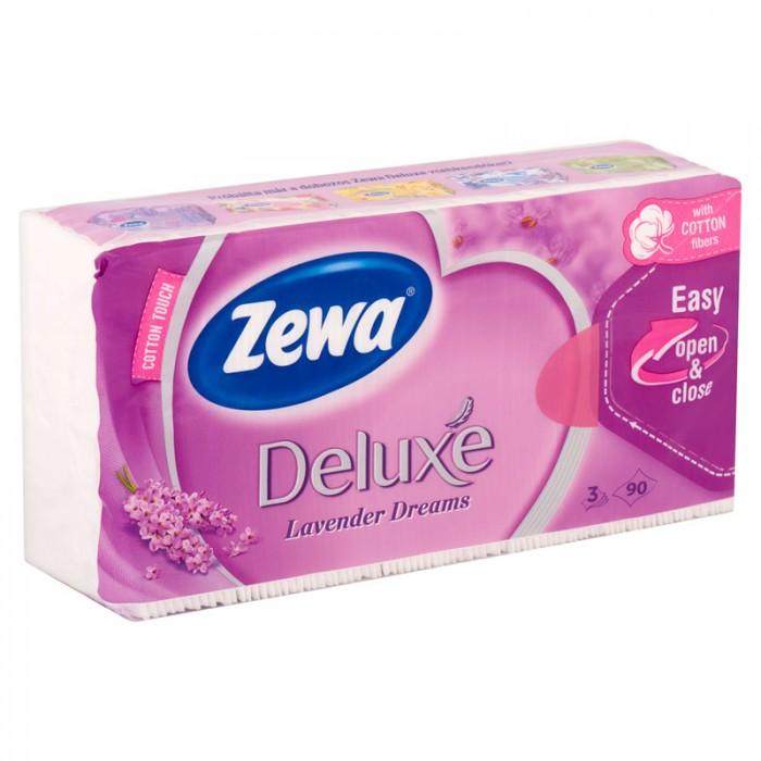 Zewa Deluxe 3 rétegű papír zsebkendő Lavender 90 db