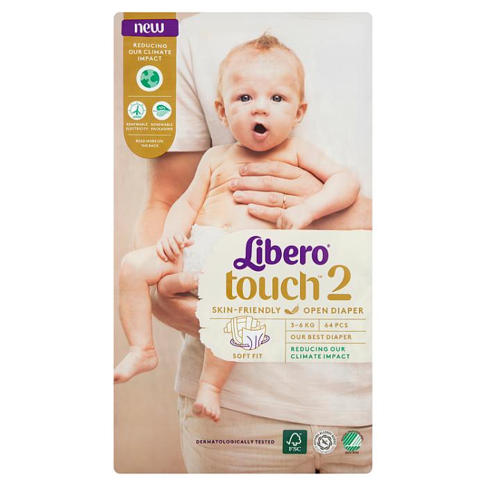 Libero Touch 2 JUMBO nadrágpelenka 64 db 3-6kg