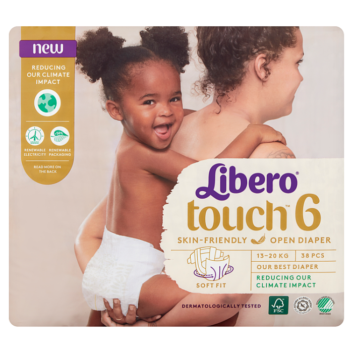 Libero Touch 6 JUMBO nadrágpelenka 38 db 13-20kg