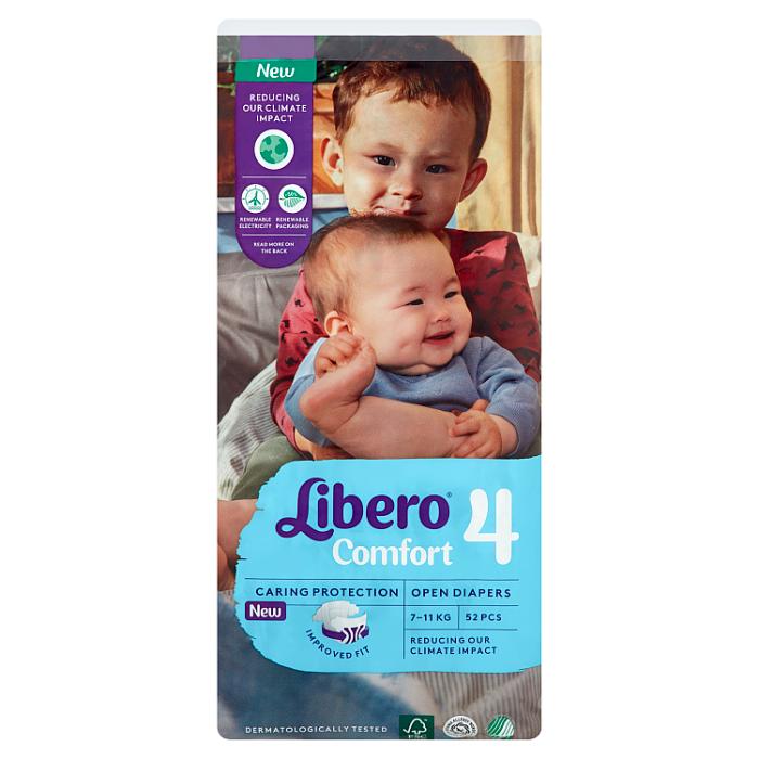 Libero Comfort 4 JUMBO nadrágpelenka 52 db 7-11 kg