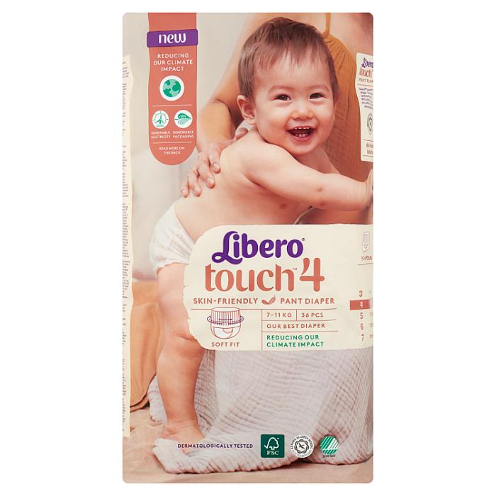 LIBERO Touch 4 bugyipelenka 36 db 7-11kg